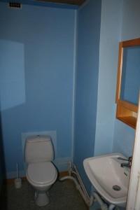 den blå toalett